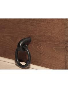 Poignée de meuble en fer forgé main BROCANTE