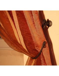 Embrasse rideau articulée en fer forgé main MANOIR