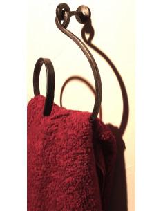 Porte serviette en fer forgé main SPIRIT