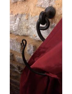Embrasse rideau articulée en fer forgé main MANOIR XL