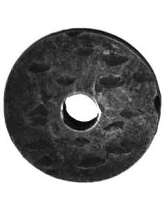 Pastille ronde martelée