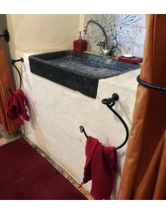Porte serviette en fer forgé main